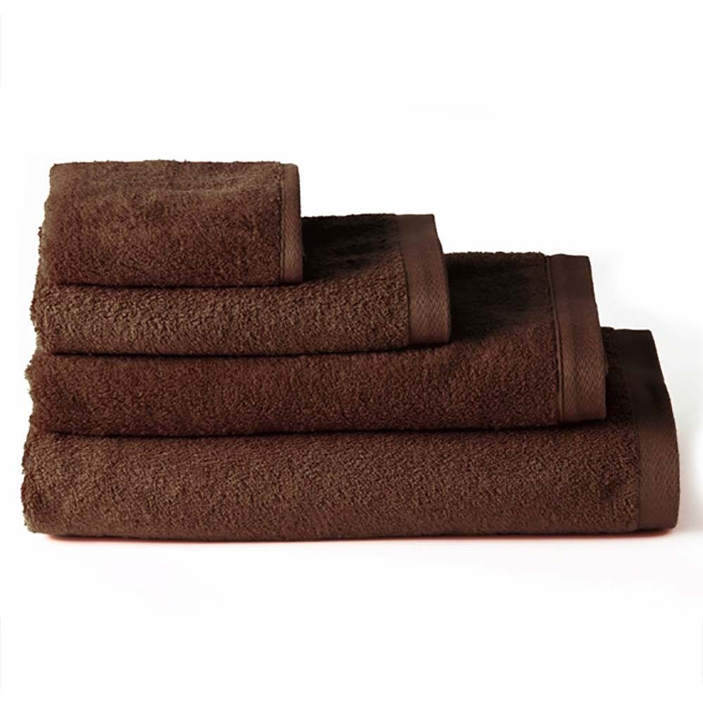 Toalla de ducha algodón marrón chocolate (70x140)