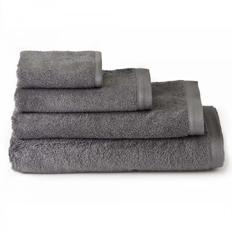 Toalla de baño tocador algodón gris (30x50)