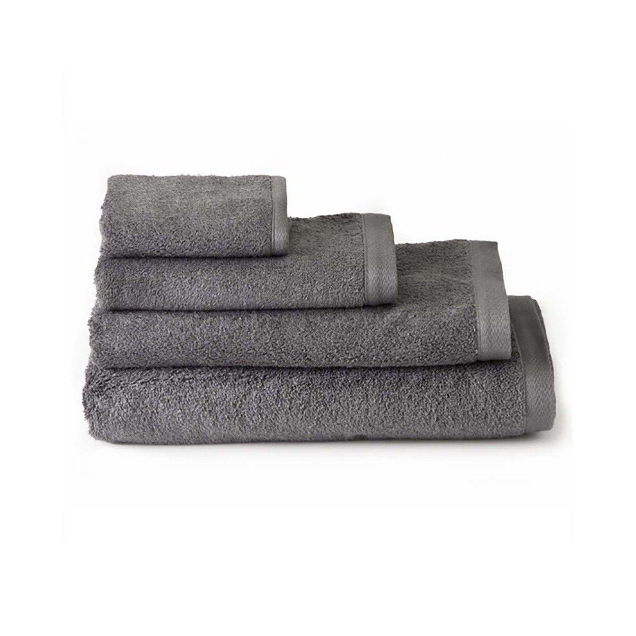 Toalla de ba o lavabo algod n gris hogar y m s - Toallas de algodon ...
