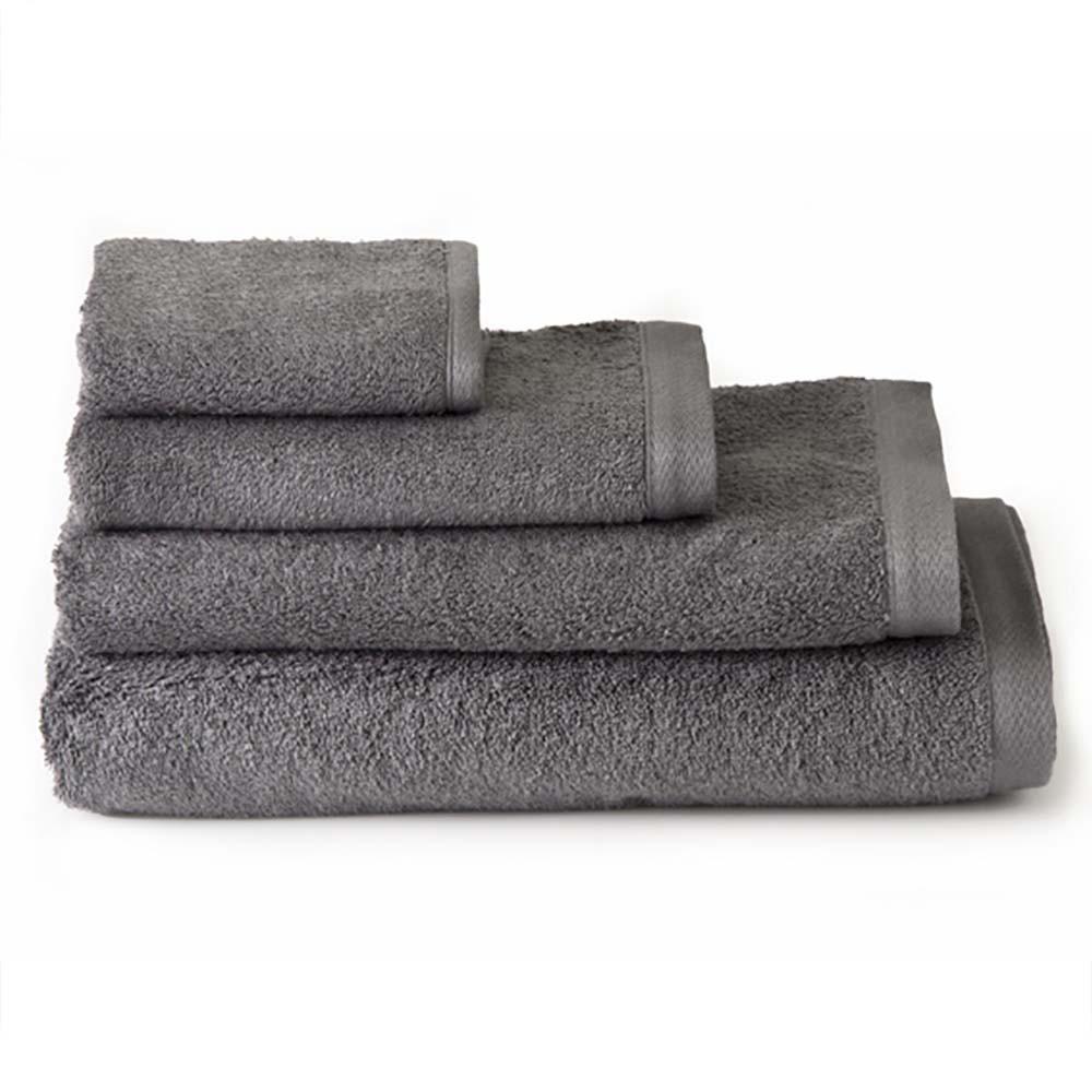 Toalla de baño lavabo algodón gris (50x100)