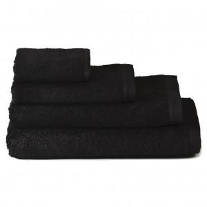 Toalla de baño lavabo algodón negra (50x100)