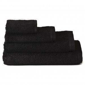 Toalla de ducha algodón negra (70x140)