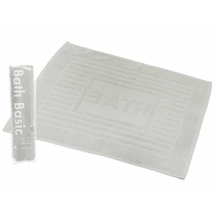 Alfombra para Baño Rectangular, de Algodón y Rizo Americano, Color Blanco. Diseño Bath - Hogar y Más