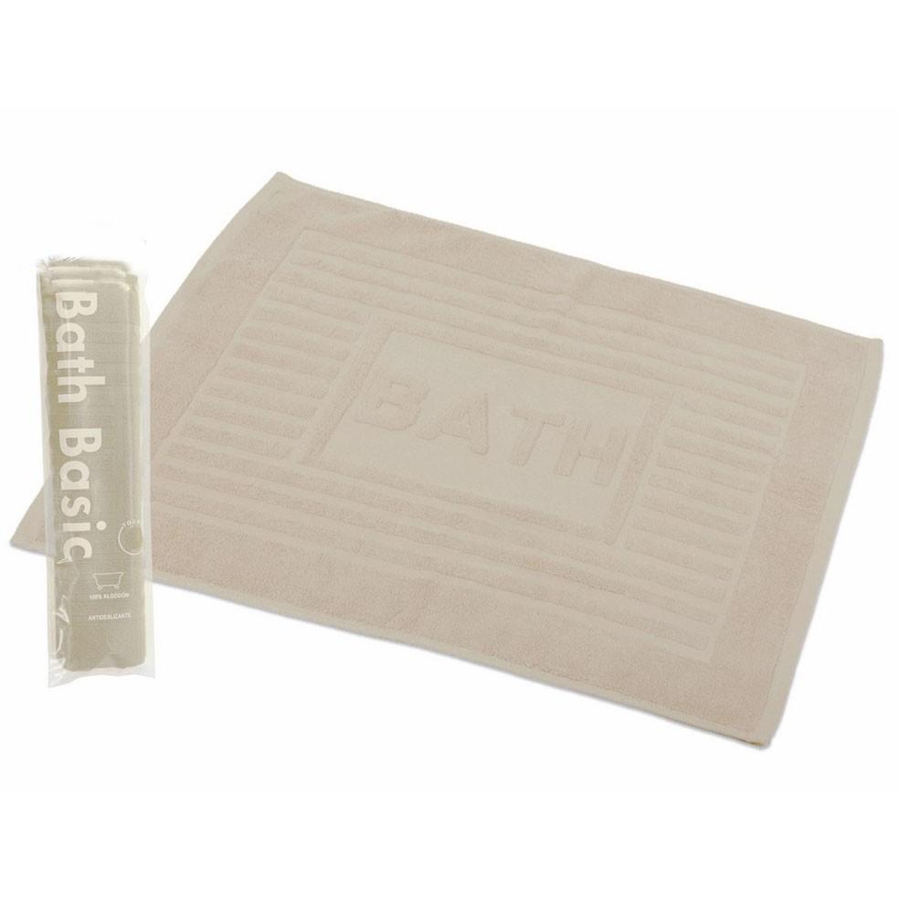 Alfombra para baño algodón cruda (45x65)