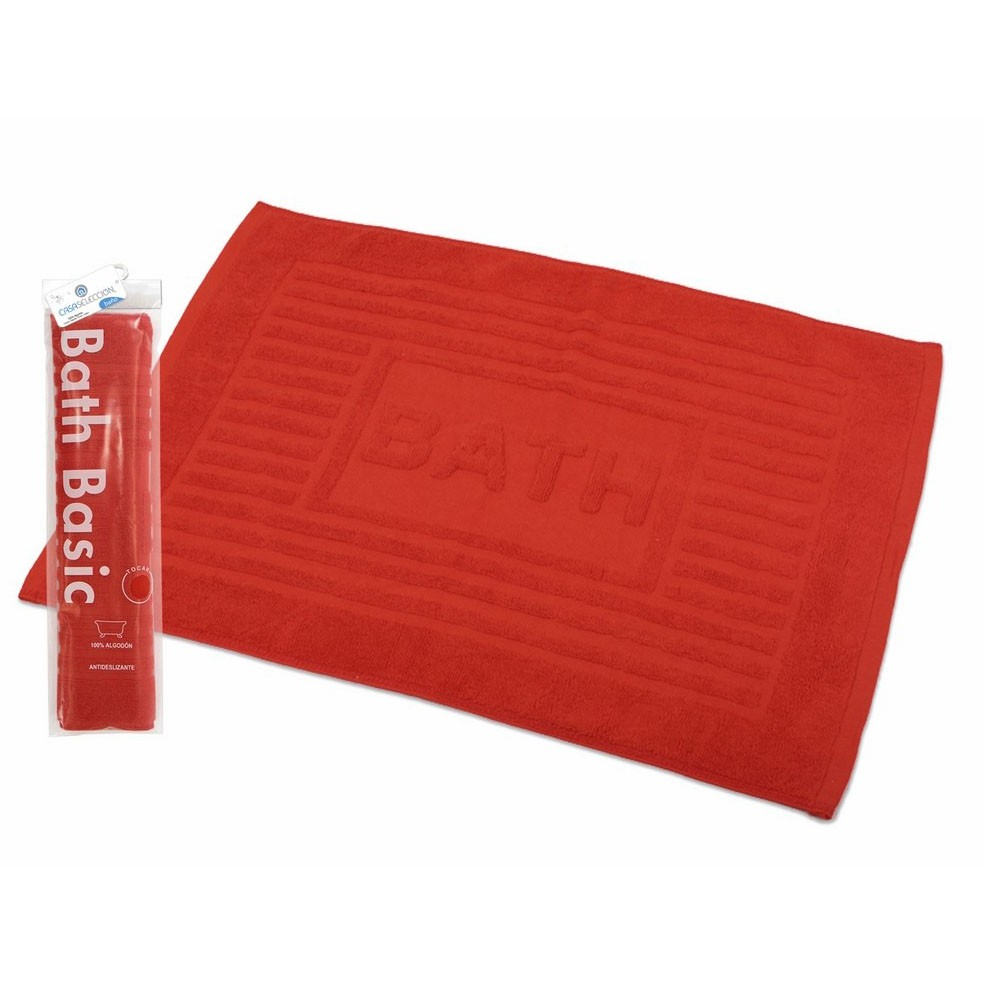 Alfombra para baño algodón roja (45x65)