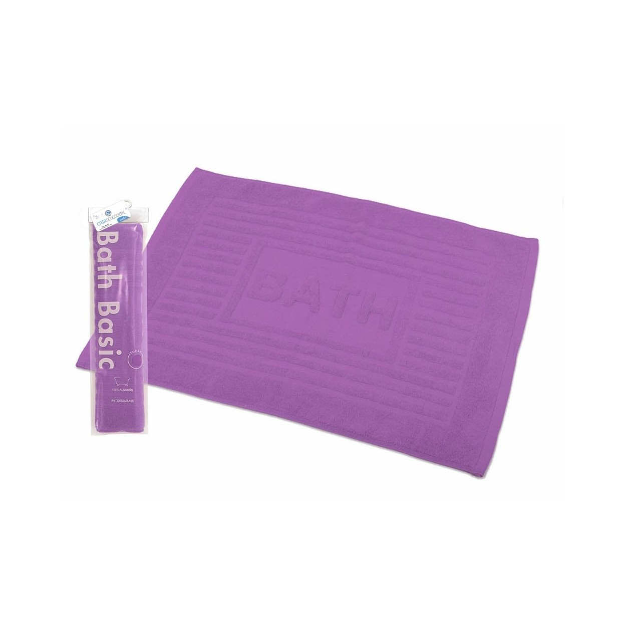 Alfombra para ba o rectangular de algod n y rizo for Alfombra bano infantil