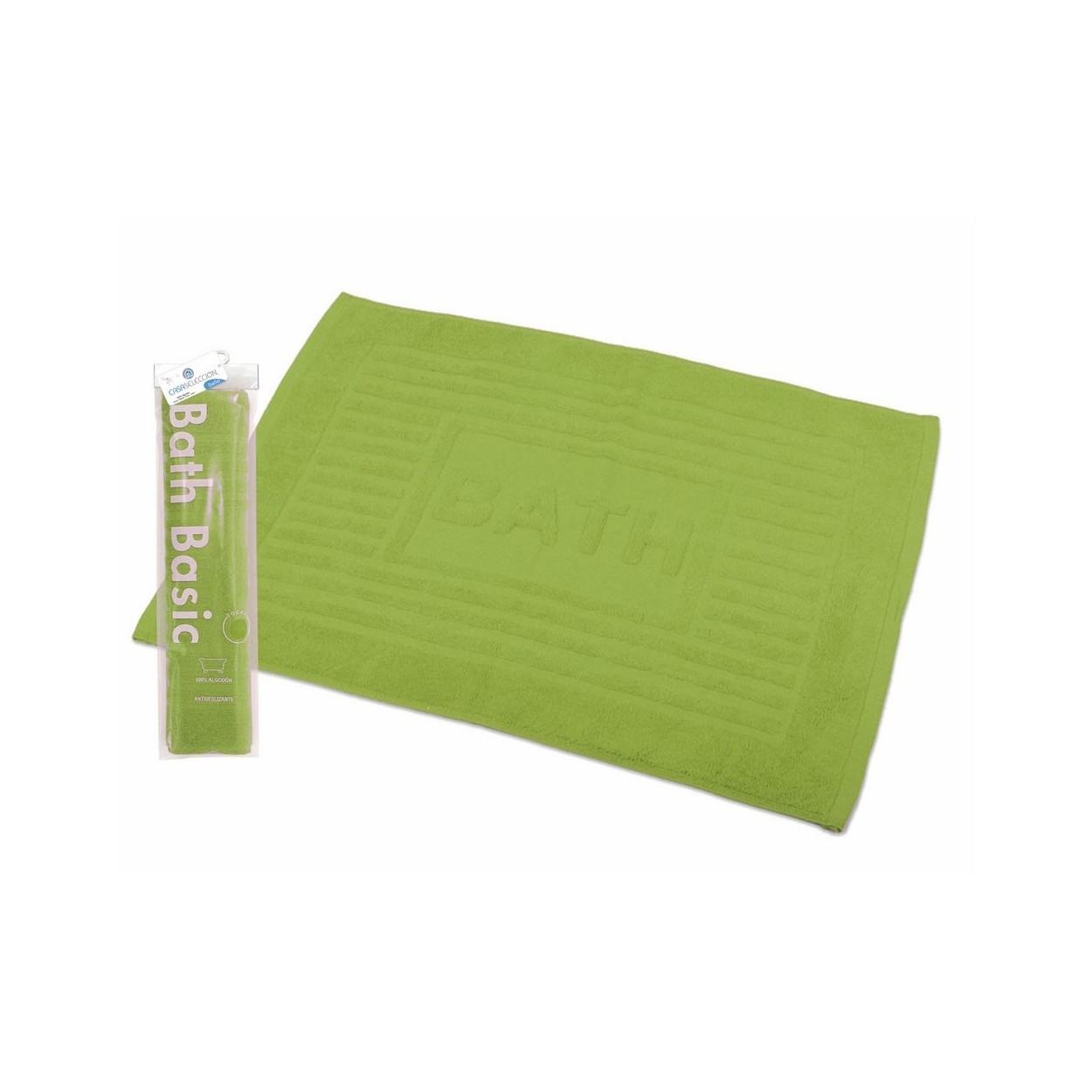 Alfombra para ba o algod n verde 45x65 hogar y m s - Alfombras de bano ...
