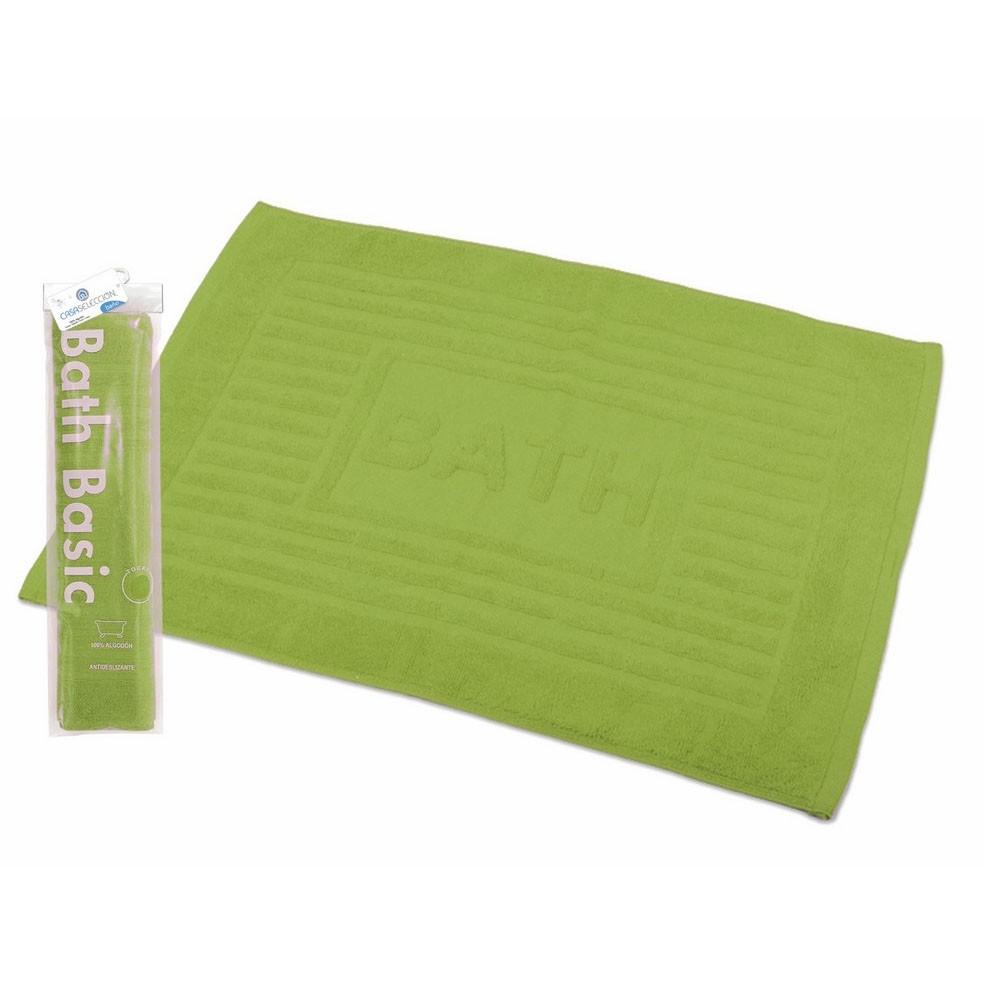 Alfombra para baño algodón verde (45x65)