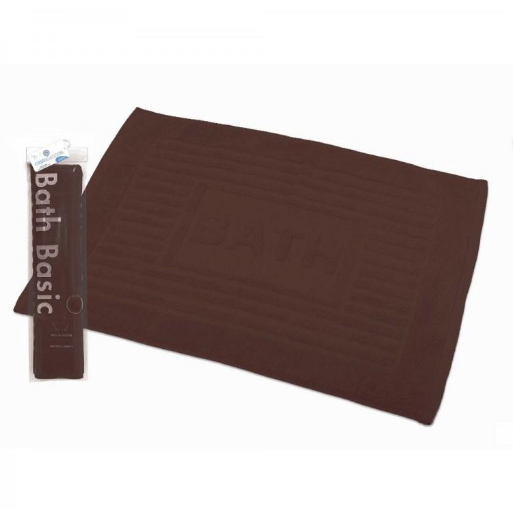 Alfombra para Baño Rectangular, de Algodón y Rizo Americano, Color Chocolate. Diseño Bath - Hogar y Más