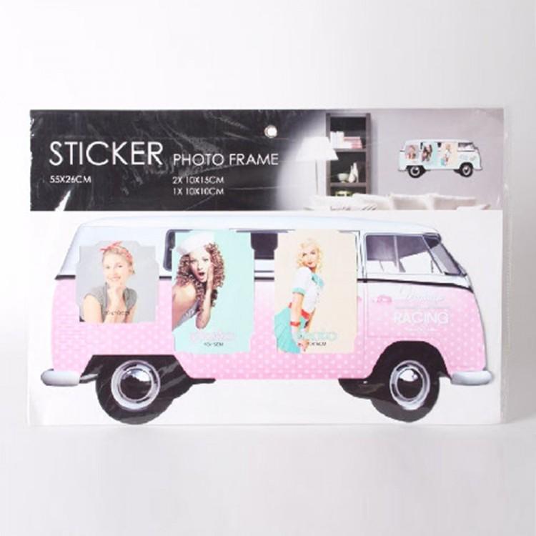 Marco de fotos de pared (65x30 cm) furgoneta