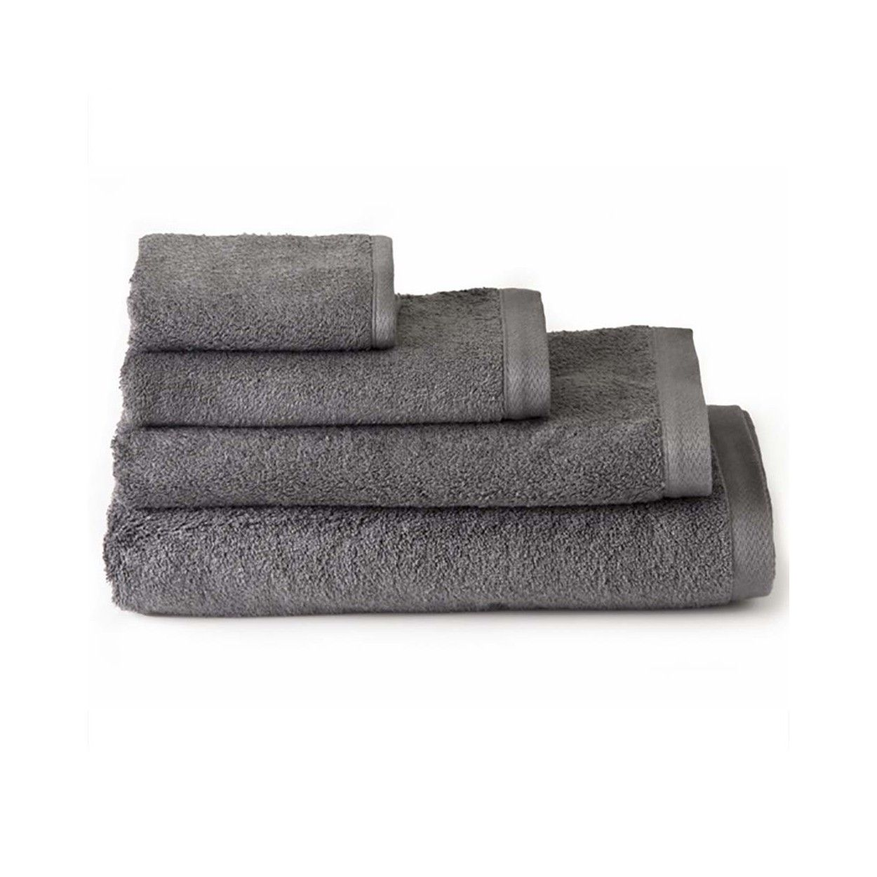 Toalla de ducha algod n gris 70x140 hogar y m s - Toallas de algodon ...