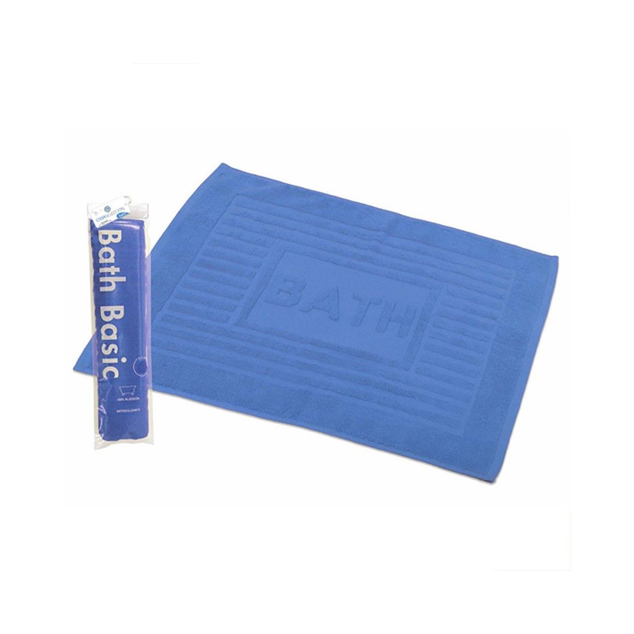 Alfombra para ba o algod n azul 45x65 hogar y m s - Alfombras para bano ...