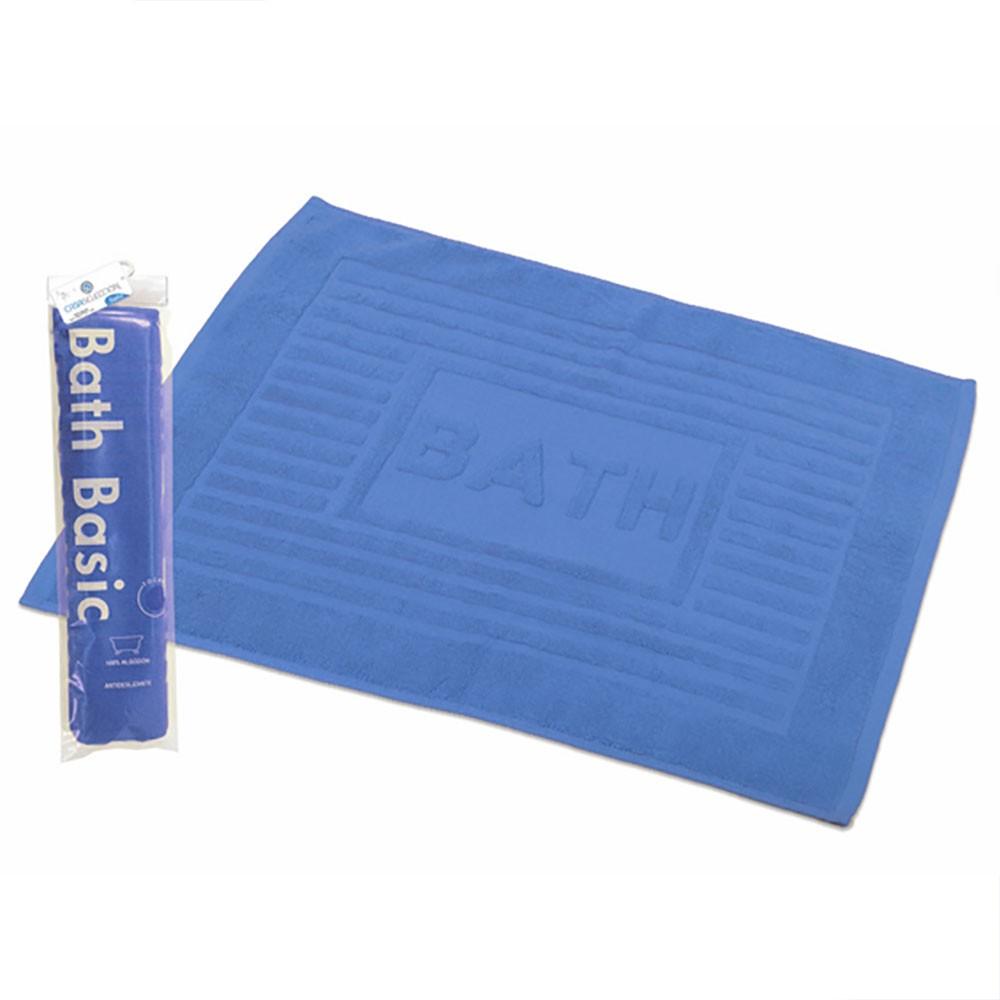 Alfombra para baño algodón azul (45x65)