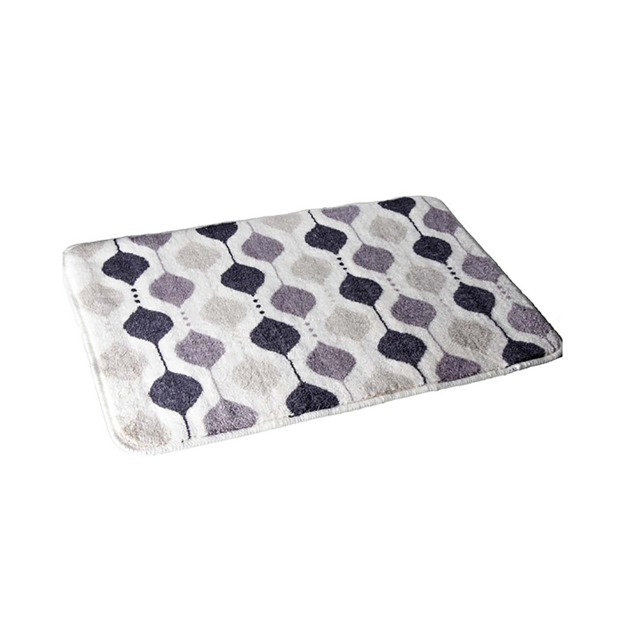 Alfombra para ba o antideslizante rectangular de colores for Alfombra bano infantil