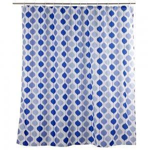 Cortina de baño formas geométricas (180x200) azul