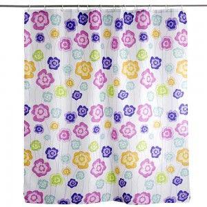 Cortina de baño floral (180x200)