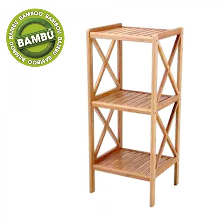 Estantería bambú tres niveles (36.5x33x85)