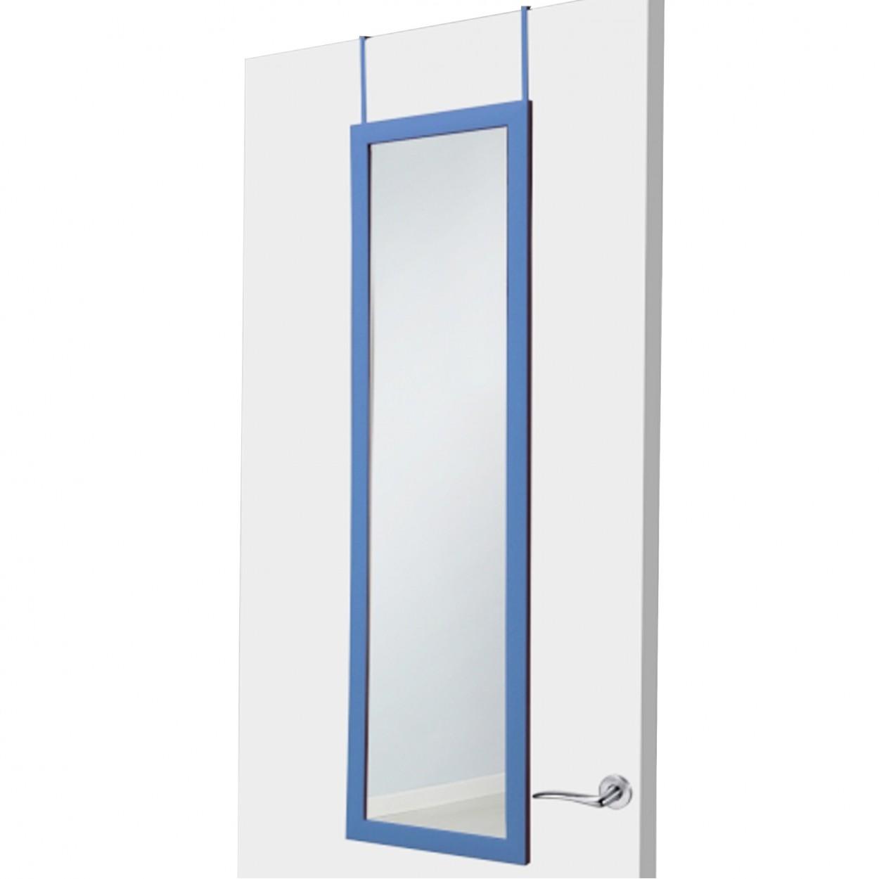 Espejo para puerta azul sin agujeros hogar y mas hogar y m s - Puertas de espejo ...