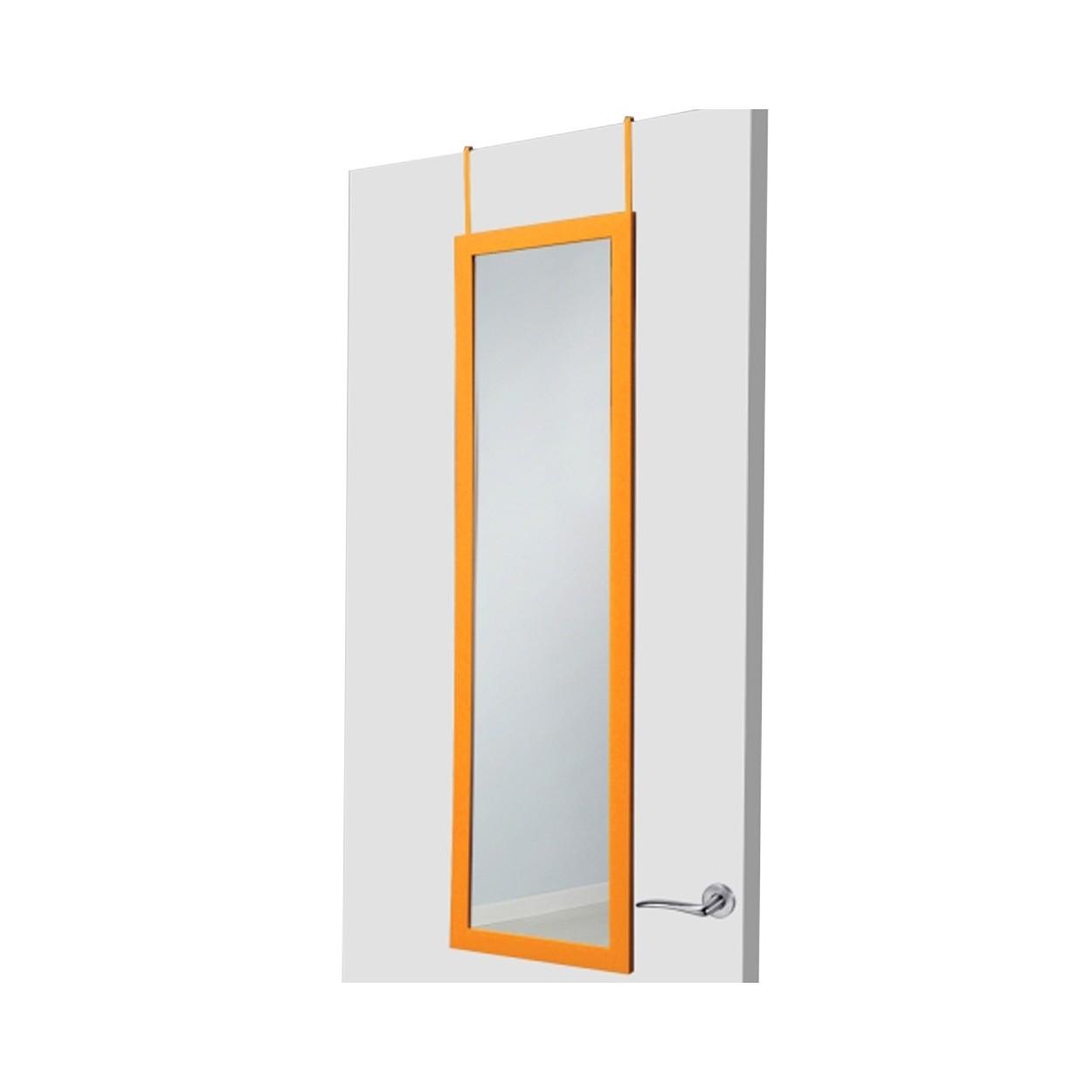 Espejo para puerta naranja sin agujeros hogar y m s for Perchas para puertas sin agujeros