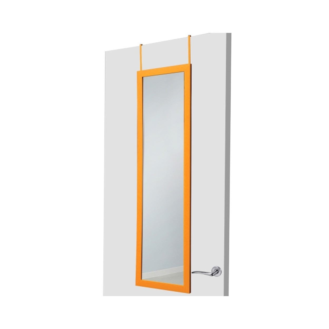 espejo para puerta naranja sin agujeros hogar y m s