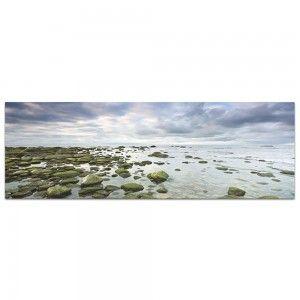 Cuadro rocas sobre el mar, fotoimpresión (180x60)