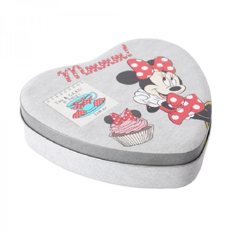 Caja de metal corazón Minnie Mouse (17x15x4 cm) gris