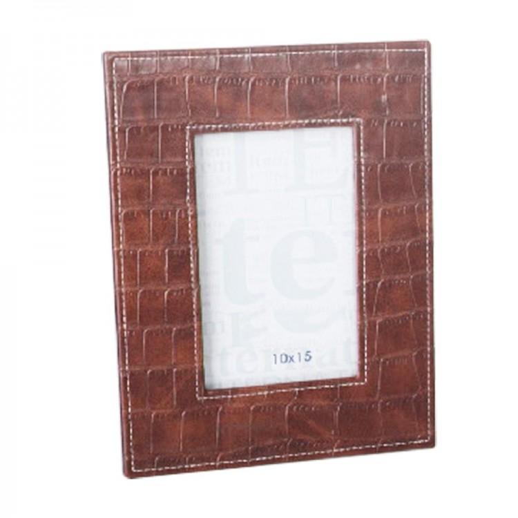 Marco de fotos marrón - para fotografías de 10x15 cm - (18x23 cm) poliuretano