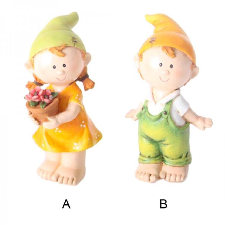 Figura niño / niña en resina (10x9x8 cm)