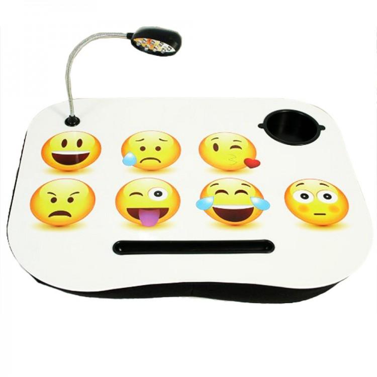 Bandeja para ordenador portátil con luz led modelo emoticonos