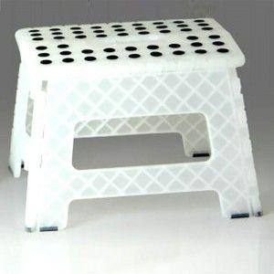Taburete plegable translúcido (32x25x22)