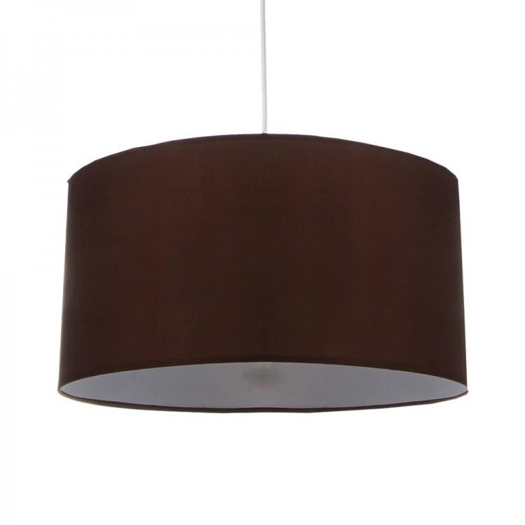 Lámpara de techo, pantalla textil en color marrón