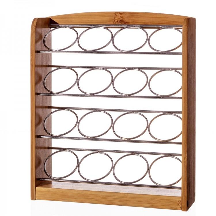 Porta cápsulas café dolce gusto de bambú y metal (16 cápsulas)