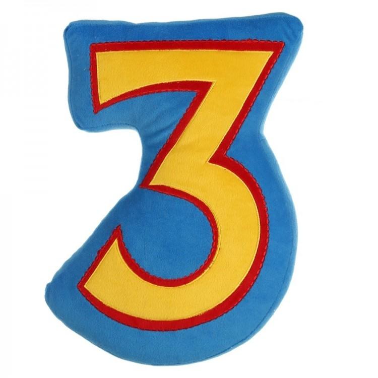 Cojín número amarillo-azul (28 x 8 x 38 cm)