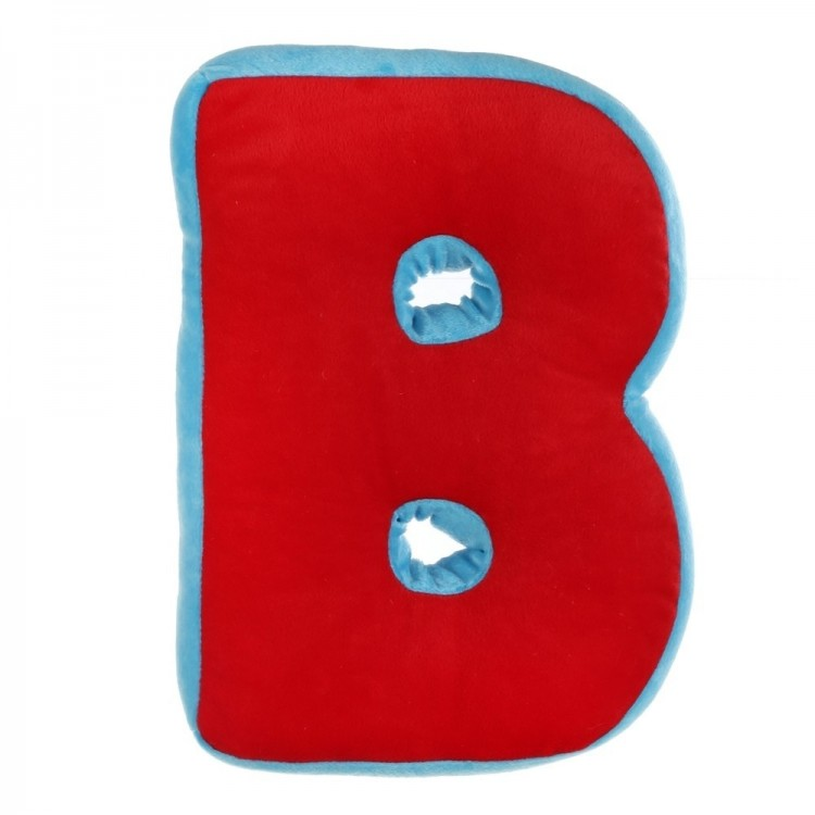 Cojín letra rojo-azul poliester (24,50 x 8,50 x 35 cm)