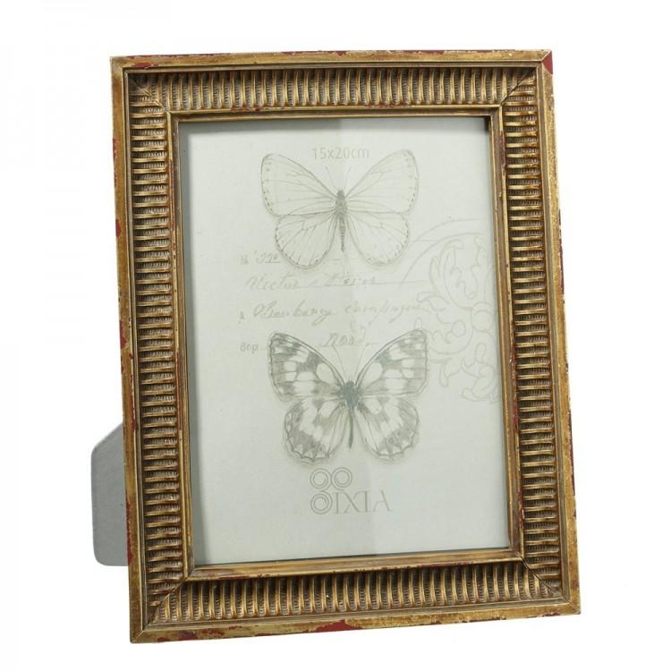 Portafotos dorado (20,30 x 2 x 25,40 cm)