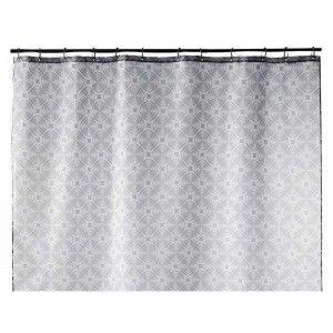 Cortina baño gris geometrica (180x200)