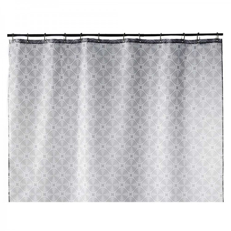 Cortina de baño gris geometrica (180x200)