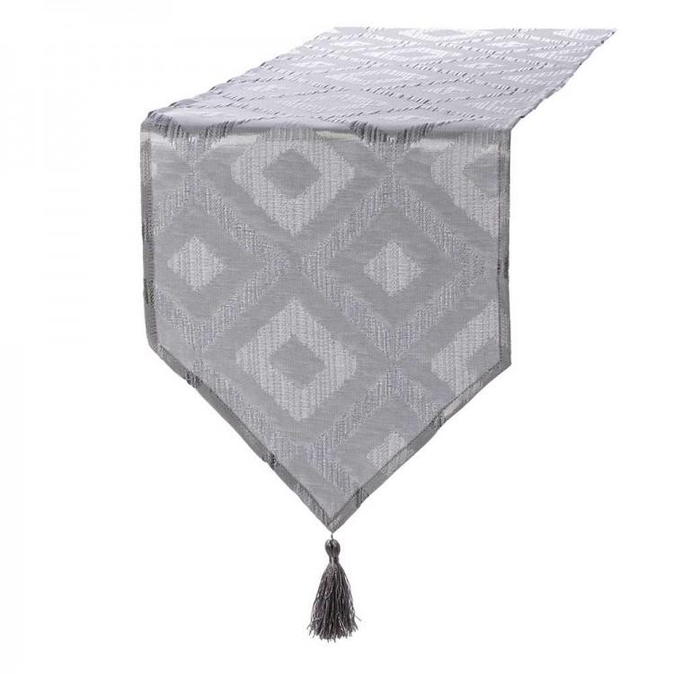 Camino de mesa rombos gris (135x35)