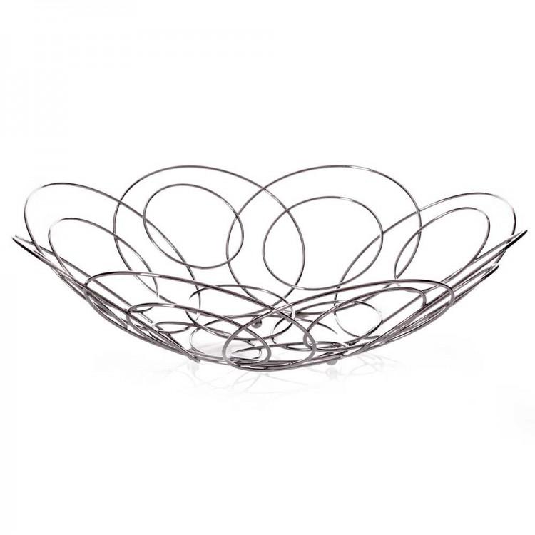 Frutero moderno diseño original acero cromado círculos (38x38)