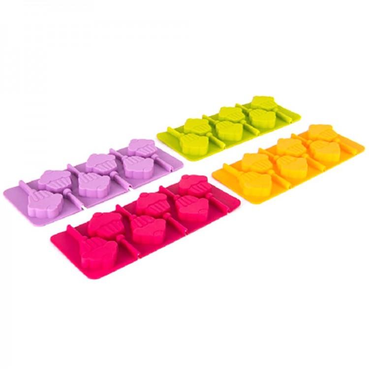 Molde piruletas de chocolate silicona (23.5x9.5) 6 piruletas